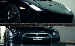 はえー!!ランボルギーニ ガヤルド 1500馬力×2 vs 日産 GT-R 1100馬力 公道加速対決動画