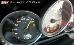 ポルシェ 997 GT3 RS 4.0 の 332-0km/h フルブレーキング動画