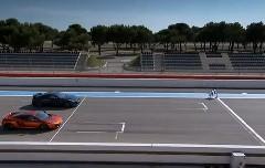 マクラーレン MP4-12C vs 日産 GT-R 超短距離16.5m加速対決動画