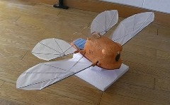ラピュタの羽ばたき飛行機フラップターをラジコンで作ってみた動画