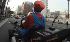 銀座でリアルマリオカートをやってみた動画
