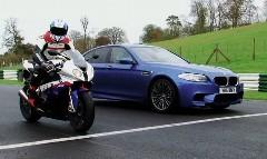 BMW M5 vs S1000RR サーキット対決動画