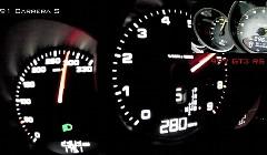 ポルシェ 991 カレラS vs 997 GT3 RS4.0 0-300km/h加速比較メーター動画