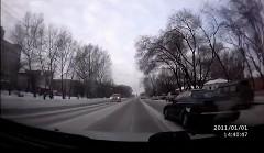 すごい勢いで抜いていった車が前方で事故ってた動画