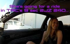 700馬力 日産 240SXの助手席におねーちゃんを乗せてみた動画