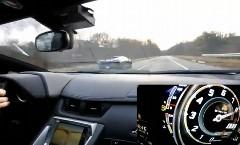 ランボルギーニ アヴェンタドール LP700-4 vs ツインターボ ガヤルド スーパーレジェーラ 公道加速勝負動画