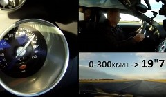 ブガッティ ヴェイロンの0-300km/hタイムを測ってみた動画