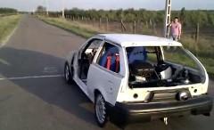 スズキ スイフト(カルタス)にハヤブサのエンジンを2つ積んでみた動画