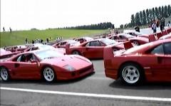 フェラーリ F40 がたくさん集まっちゃった動画