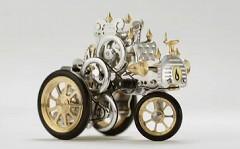 美しすぎるスターリングエンジンで動く模型自動車の動画