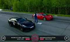 フェラーリ 458 イタリア vs 日産 GT-R、シボレー コルベット ZR1 加速対決動画