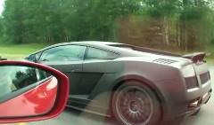 ランボルギーニ ガヤルド 1500馬力 vs 日産 GT-R 850馬力 加速対決動画