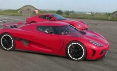 ケーニグセグ アゲーラ R vs フェラーリ 599 GTB と1500馬力 ランボルギーニ ガヤルド 380km/h動画