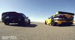 シボレー コルベット 500馬力レーシングカー C6.R vs 640馬力市販車 ZR-1 加速対決動画