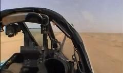 ローパスで飛行するジェット戦闘機のオンボード映像が超カッコイイ!っていう動画