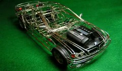 これは渋い!ワイヤークラフトで作られた美しい自動車達の動画