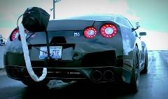 AMSチューンド日産 GT-R がゼロヨン 8.62秒 出しちゃう動画