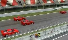 フェラーリ F40 がクラッシュしそうになっちゃう動画
