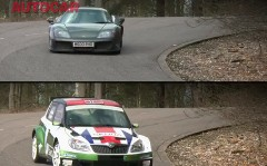 265馬力のラリーカー vs 650馬力のスーパーカー 峠対決動画