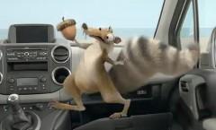 スクラットの奮闘が楽しい!プジョー×アイスエイジのコラボCM動画