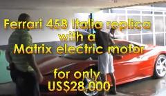 100%自然エネルギーで走るという怪しすぎるフェラーリ 458 イタリアのレプリカ動画