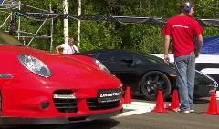はえー!1500馬力 ランボルギーニ ガヤルド vs 950馬力 ポルシェ 997 ターボ 加速対決動画