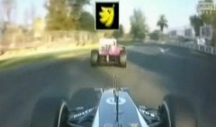 F1 をマリオカート風にしてみた動画