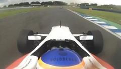 フォーミュラマシンのステアリングをレース中に外しちゃう動画