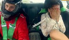 セクシーおねーちゃんをトヨタ マーク2のドリ車の助手席に乗せてみた動画