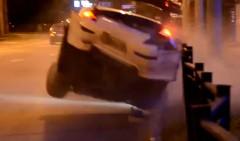 日産 フェアレディ Z の公道ドリフトキター!→ クラッシュっていう動画