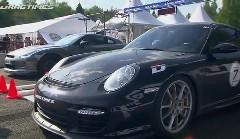 日産 GT-R 1200馬力 vs ポルシェ 997 ターボ 9ff 1300馬力 加速対決動画