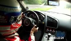 アウディ R8 e-Tron 市販EV世界記録 ニュル8分9秒099ノーカットオンボード動画