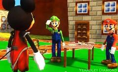 子供は見ちゃダメ!マリオ vs ミッキーマウス 超人気キャラ夢の対決MAD動画