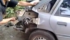 ロシアの豪快なフレーム修正の達人動画