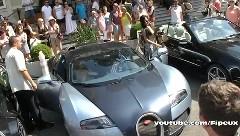 1日190万円もするブガッティ ヴェイロンのレンタカーを借りてドライブしちゃう女セレブの動画