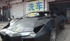 お金は無いけどスポーツカー大好きな中国人がランボルギーニ レヴェントンを手作りしちゃった動画