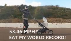 世界一速いベビーカーのゼロヨンタイムを測ってみた動画