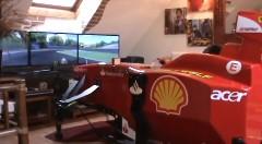 これはスゴイ!可動式のフェラーリ F1 コクピット型コントローラーを作ってみた動画