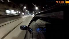 ドリフトしてたら警察が来たから逃げ切ってやった動画