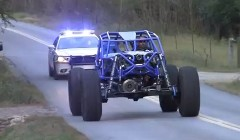 ロックバギーで公道を走ったらパトカーに追いかけられちゃった動画