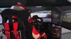 レーサー用に開発されたドライビングシミュレーターの動画