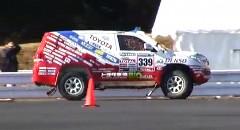 トヨタ ランドクルーザーでジムカーナをやってみた動画