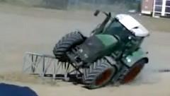 トラクターで片輪走行にチャレンジしてみた 他トラクター動画