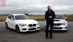 BMW M135i vs スバル WRX STI タイムトライアル動画