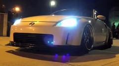 350Zの車高が低すぎて段差に引っかかっちゃった動画