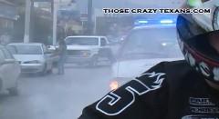 公道でバーンアウトしたら後ろがパトカーだったでござる