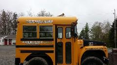 短すぎるスクールバス