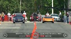 2000馬力 ランボルギーニ ガヤルド vs 1200馬力 日産 GT-R 加速対決動画