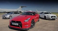 日産 GT-R vs アウディ RS6 vs RS4 ゼロセン加速対決動画