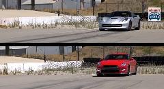 シボレー コルベット スティングレイ C7  vs 日産 GT-R 動力性能比較動画